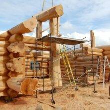 Как сделать сруб из круглого леса