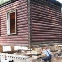 Замена верхнего венца в деревянном доме